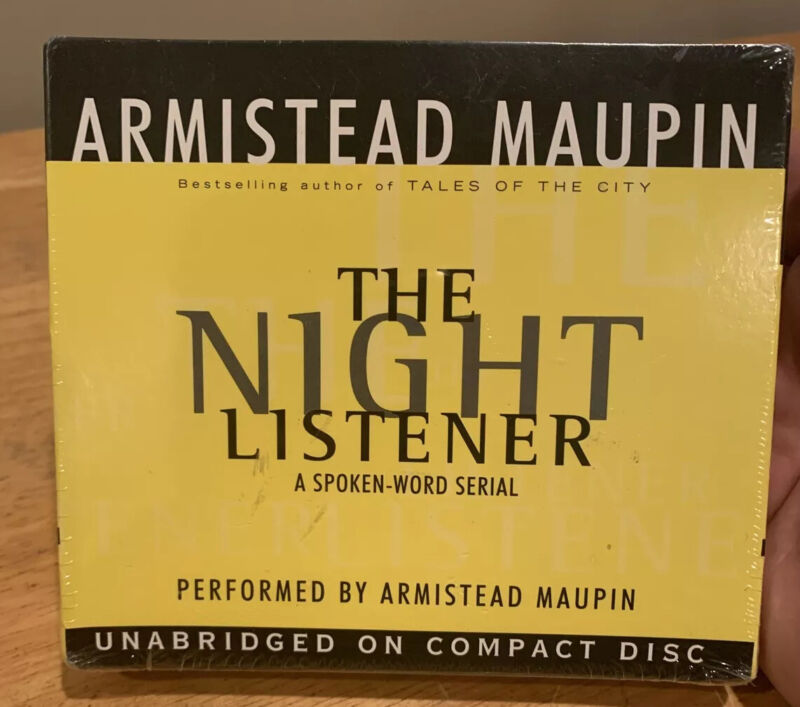 The Night Listener by Armistead Maupin (2000, CD, Unabridged) New