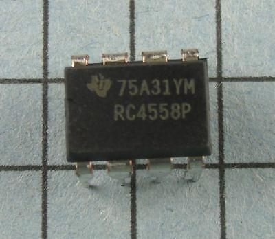 Op Amp Rc4558p 8pin Dip 5pcs Per Lot