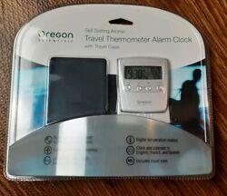 Oregon Scientific Self Setting Atomic Travel Alarm Clock Sealed World Time