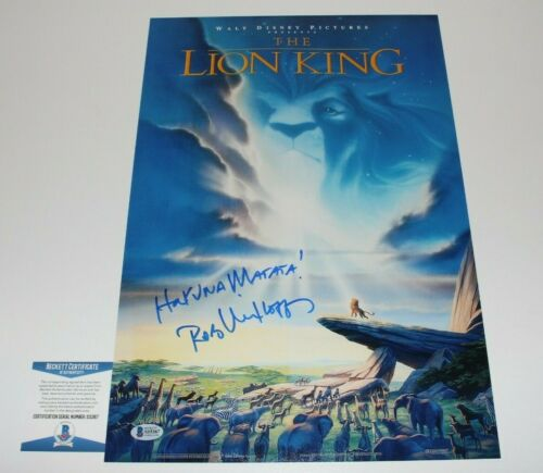 ROB MINKOFF SIGNED THE LION KING 12x18 MOVIE POSTER BECKETT COA HAKUNA MATATA