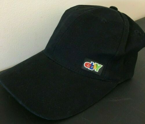 Vintage Original eBay Logo Hat Cap Adjustable Buckle Strap Official eBayana 1999