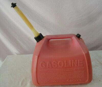 Vintage Gott Pre Ban Vented 5 Gallon Gas Can Model 1251