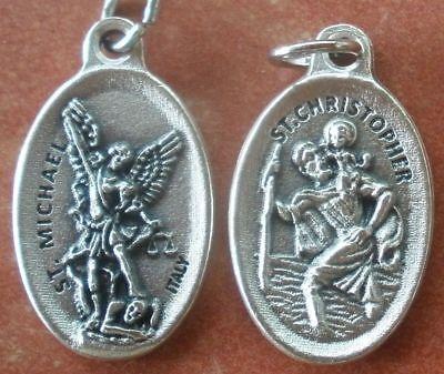 Saint Michael Archangel - ONE Medal Saint Michael the Archangel & St. Christopher Protection, Safe Travel