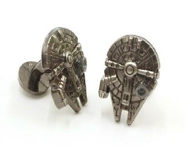 Star Wars Cufflinks Millennium Falcon Millenium Cuff links Tie clip French Shirt