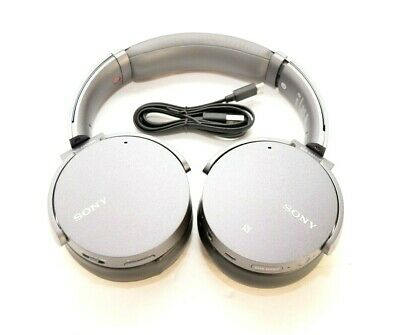 Sony MDR-XB950N1 Bass Wireless Bluetooth Noise Cancelling Headphones Gray READ!!