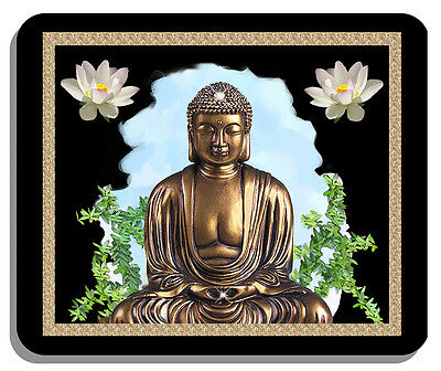 Buddha Buddhism Mouse Pad Gifts Lotus Flowers Spiritual Washable Top
