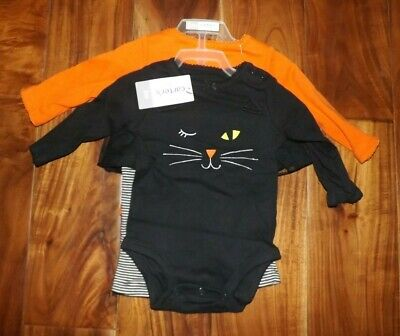 NWT Carter's Halloween Orange Black So Cute it's Scary 3Pc Outfit Set Various Sz
