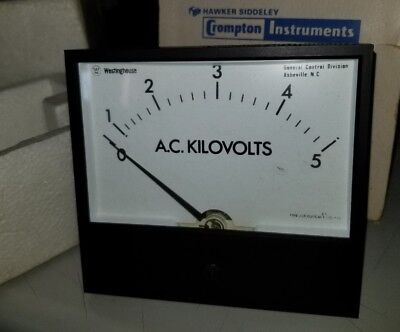 Crompton A.c. Kilovolts Meter 7857a73426