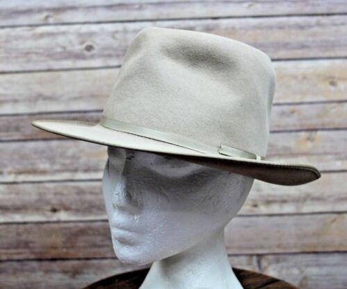 "Vintage Stevens ""The Deluxe"" Western Style Felt  Dress Hat Fedora 6 3/4"