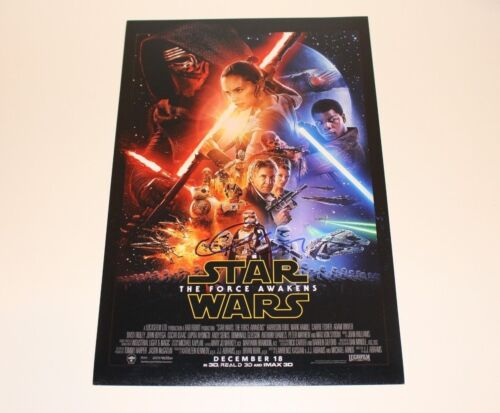 ACTRESS GWENDOLINE CHRISTIE SIGNED STAR WARS A FORCE AWAKENS MOVIE POSTER w/COA