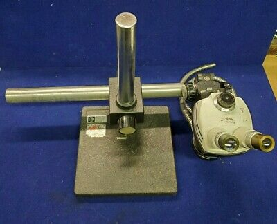 Bausch Lomb Stereo Zoom 4 Microscope  Mounted On Boom Arm Stand