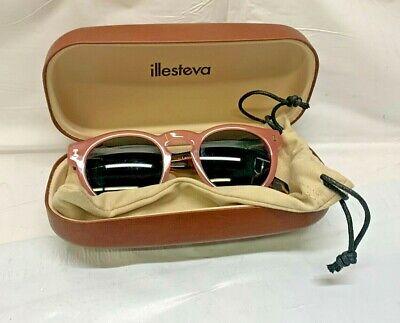 Illesteva Leonard Pink/Tortoise Sunglasses New with Hard Case