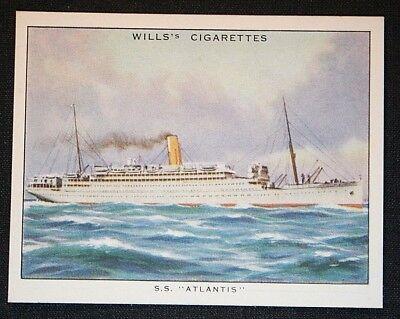 SS ATLANTIS   Royal Mail Lines  Steamer   Superb Large Vintage Cigarette Card