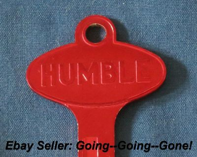 Vintage Humble Oil Co Key Blank Ford Lincoln Mercury Edsel 1958 1966 1127Du Red