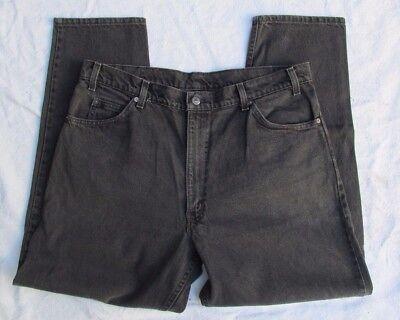 Levis Straight Leg Black Denim Jeans Mens 40 30 USA Made black tab