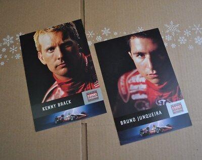 Bruno Junqueira / Kenny Brack Driver Cards  Target Racing  Champ Car IndyCar IRL
