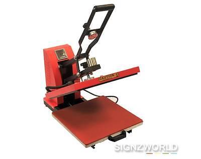 Red 38x38 High Pressure Semi Auto Heat Press with Draw XY-009A T-Shirt Transfer