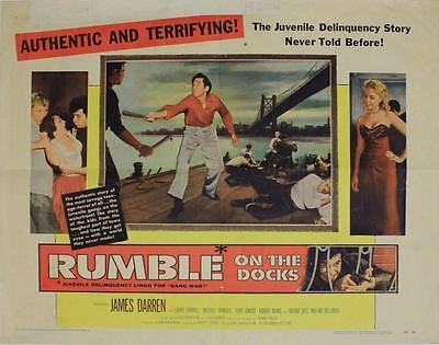 Rumble On The Docks  1956   Original Half Sheet  22X28   James Darren