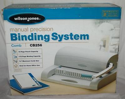 cb256 manual comb binding binder system