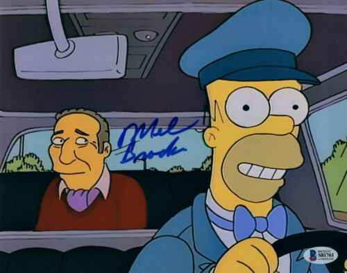 Mel Brooks Signed Autographed 8x10 Photo THE SIMPSONS Beckett BAS COA