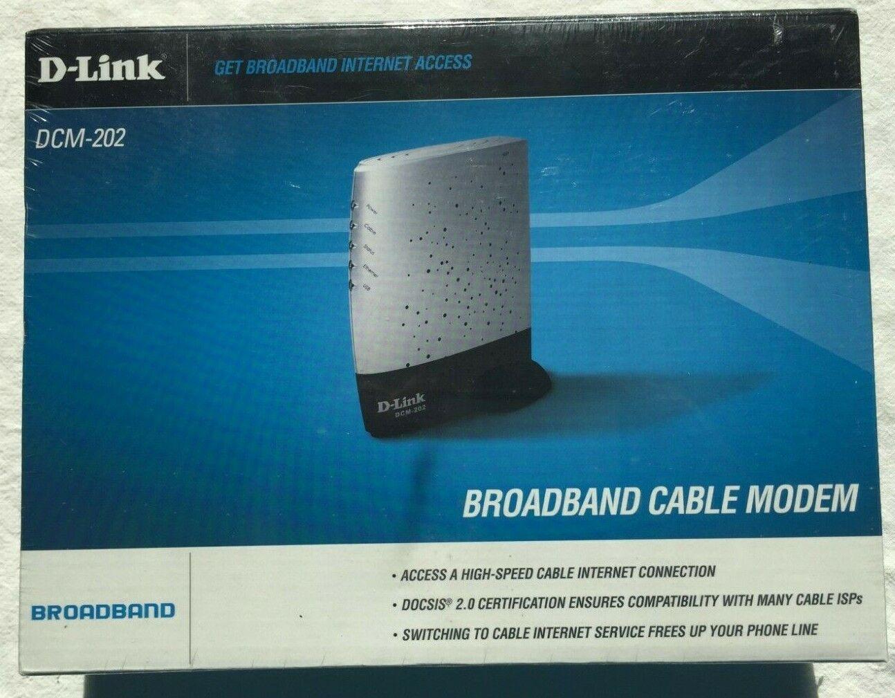 D-Link DCM-202 Broadband Modem / Brand New in Sealed Packagi
