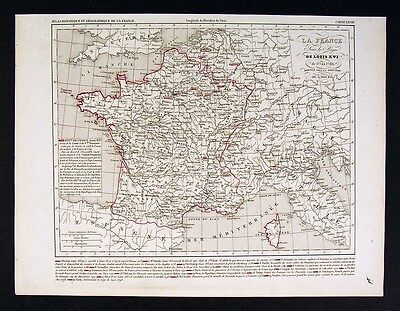 1841 Houze Map   France Of Louis Xvi 1774 1793   Europe
