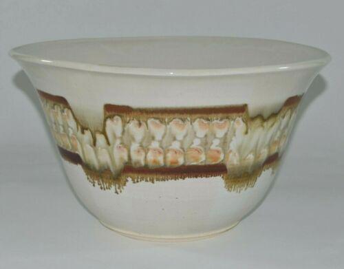 "Handmade Studio Mid Century Style Pottery Bowl LARGE 14.5"" Glazed Neely Heely"
