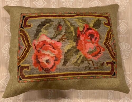 Antique tapestry cushion pillow