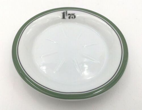 1f75 Green & Black Rim Absinthe Coaster, Reproduction