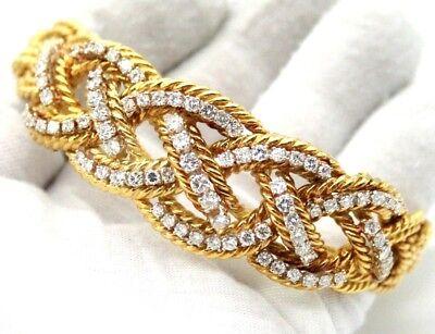 VINTAGE SPRITZER & FUHRMAN LADIES 18K YELLOW GOLD DIAMOND BRACELET