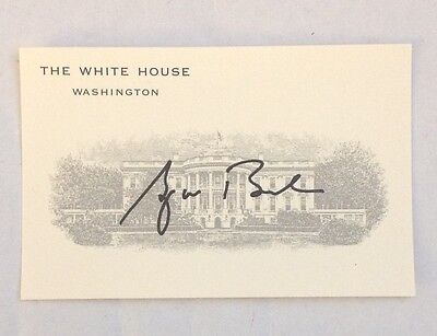 PRESIDENT GEORGE W.  BUSH WHITE HOUSE ISSUED  SIGNATURE BUSINESS CARD  GW