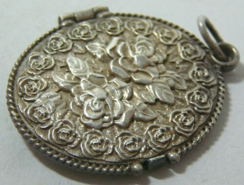 Pendant Box Roses Silver 84 Imperial Russian Moscow 1914