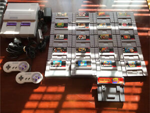 Super Nintendo w/ 2 controllers, 20 games