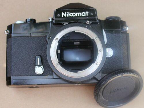 VINTAGE 1975 NIKON NIKKORMAT FT2 35MM SLR FILM BLACK BODY CAMERA & CAP 4454565
