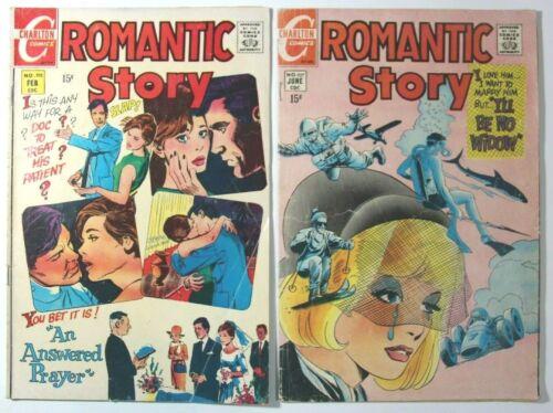 ROMANTIC STORY #105 & 107 - 1970 CHARLTON COMICS BRONZE AGE STEVE DITKO ROMANCE