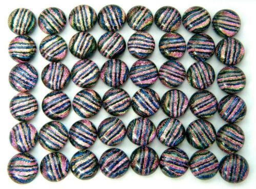 TINY Lot 48 pcs DICHROIC earrings FUSED GLASS (E10) mosaic cabochons handmade