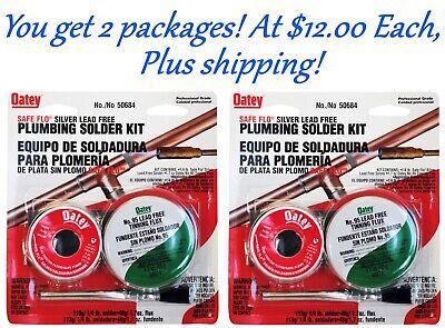 8 Ounces Of Solder With Flux. Oatey Lead Free Solder Kit U Get 2 Kits