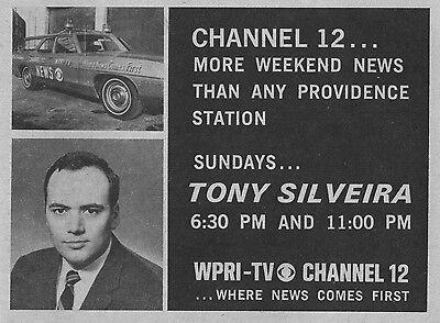 1969 Wpri Tv Ad   Tony Silveira Host News On Wpri In Providence Rhode Island