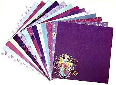 12X12 Scrapbook Paper lot 14 Sheets Disney Princess Prints Card Making L65 Disney Princess 12x12 Paper