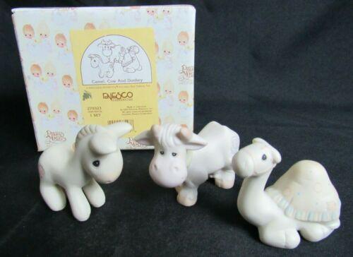 """Precious Moments 279323 """"Camel, Cow And Donkey"""" Mini Nativity MIB WP54"""