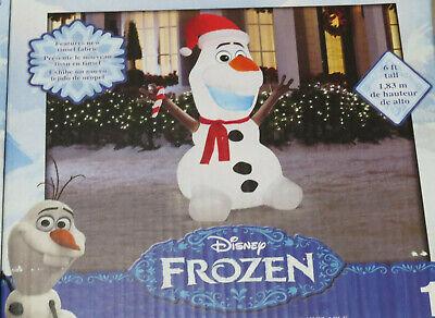 NEW Disney Frozen Olaf 6ft Airblown Inflatable Christmas Gemmy Yard Decor