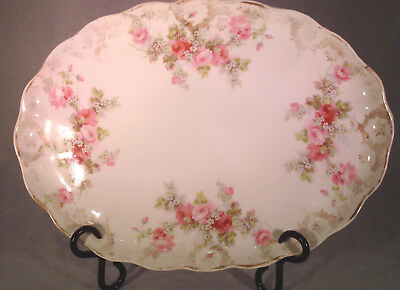 Antique Small Shallow Platter European (Probably Limoges)