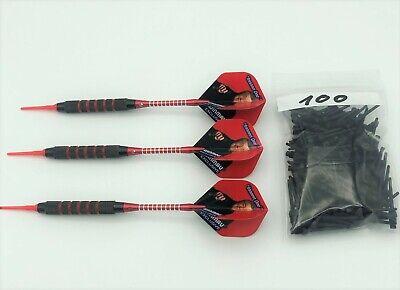 3 Dartpfeile Dartset Softdarts Darts je 18 Gramm + 100 Ersatz Soft Dartspitzen