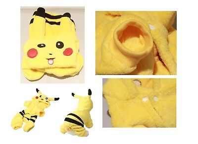 Pikachu Puppy (Pikachu Pokemon Pet Dog Cat Puppy Winter Clothes Cotton Clothing Jacket)