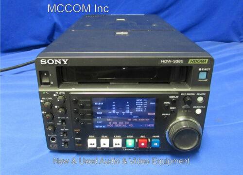Sony HDW-S280 HDCAM Half-Rack HD Digital Player w/ 338 Tape Hrs