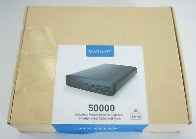 MAXOAK 50000mAh 5/12/20v Portable Charger External Battery Power Bank for Lap...