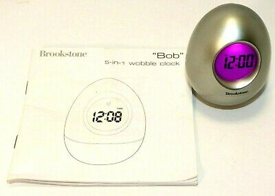 Digital Egg Shaped Timer - Brookstone Bob 5 in 1 wobble clock egg shaped - time, temp, date, timer, alarm