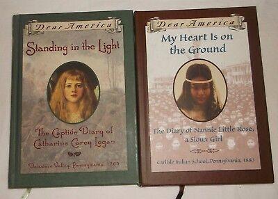 Dear America Book   Lot Of 2   Nannie Little Rose Sioux Girl Catherine Logan