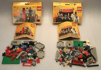 2 LEGOLAND CASTLE SYSTEM 6040 BLACKSMITH SHOP 6041 ARMOR SHOP + BOXES + BOOKLETS