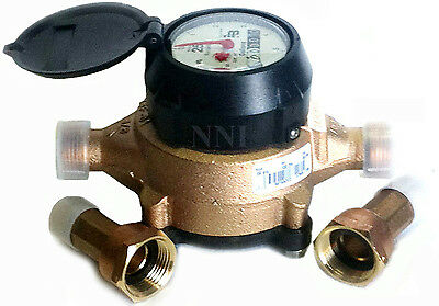 Badger Model 25 Water Meter 58 X 34 Us Gallon With Meter Couplings Lead Free
